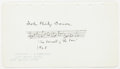 "Autographs:Celebrities, John Philip Sousa Autograph Musical Quotation Signed. Placed upon a6.75"" x 3.75"" sheet of paper and dated 1928, the compose..."