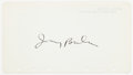 "Autographs:Celebrities, Irving Berlin Signature. The noted American composer and lyricisthas placed his signature upon a 6.75"" x 3.75"" sheet of pap..."