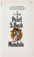"""Autographs:Authors, Pearl S. Buck Inscribed Copy of Mandala Signed. New York: Pocket Books, 1971. Inscribed on the title page: """"Fo..."""