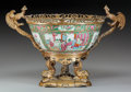 Asian:Chinese, A CHINESE PORCELAIN ROSE MEDALLION PUNCH BOWL WITH GILTBRONZE MOUNTS, 19th century. 13 inches high x 19 inches ...