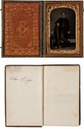 Military & Patriotic:Civil War, Carte de Visite Size Tintype and Signed Bible of Captain William Murphy Inge, 10th Mississippi Cavalry....
