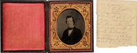1/6th Plate Tintype of Lucius P. Featherston, Colonel 5th Arkansas Infantry, Killed at Chickamauga, September 19, 1863.&...