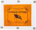 "Miscellaneous:Ephemera, ""Confederate Stomach Bitters"" Bottle Label...."