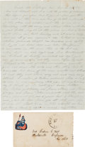 Autographs:Military Figures, Battle of Chickamauga, Union 21st Ohio Infantry: Loyal B. Wert Autograph Letter Signed.... (Total: 2 )
