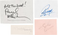 Music Memorabilia:Autographs and Signed Items, Beatles Set of Individual Signatures Perfectly Suited for Mattingand Framing. ...