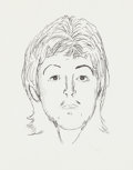 Music Memorabilia:Original Art, The Who - John Entwistle Sketch of Paul McCartney (c. 1980)....