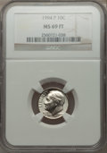 Roosevelt Dimes, 1994-P 10C MS69 Full Torch NGC....