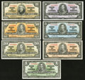 Canadian Currency: , $1 to $100 1937 Gordon-Towers Collection.. ... (Total: 7 notes)
