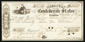 Confederate Notes:Group Lots, Confederate Treasury War Check $27.25 Oct. 6, 1864.. ...