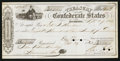 Confederate Notes:Group Lots, Confederate Treasury Check $875 Sep. 29, 1863.. ...