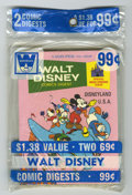 Bronze Age (1970-1979):Cartoon Character, Walt Disney Comics Digest Unopened Pre-Packs Plus Box Lot (GoldKey, 1970-75) Condition: Average NM. You'd never find these ...(Total: 23)