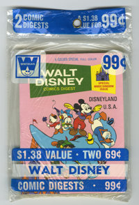 Walt Disney Comics Digest Unopened Pre-Packs Plus Box Lot (Gold Key, 1970-75) Condition: Average NM. You'd never find th...