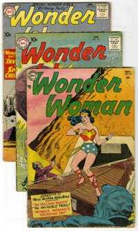 Wonder Woman Group (DC, 1954-62). Group of ten Wonder Woman comics contains #70 (GD -- first Angel Man appearance), 111...