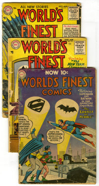 World's Finest Comics Group (DC, 1954-57) Condition: Average FR/GD. Early Silver Age issues are featured in this group w...