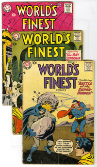 World's Finest Comics Group (DC, 1957-61). Group includes #91, 95, 97, 101, 104, 109, and 118. Superman, Batman, Robin...