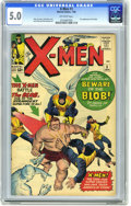 Silver Age (1956-1969):Superhero, X-Men #3 (Marvel, 1964) CGC VG/FN 5.0 Off-white pages. First appearance of the Blob. Professor X declares his love for Jean ...