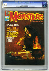 """Famous Monsters of Filmland #67 (Warren, 1970) CGC NM 9.4. Witches and Witchcraft issue. The """"Black Cat"""" filmb..."""