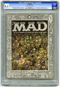 Magazines:Mad, Mad #27 (EC, 1956) CGC VF+ 8.5 Cream to off-white pages. New Logo.Al Jaffee begins as staff artist. Jack Davis cover art. D...