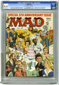 Magazines:Mad, Mad #35 (EC, 1957) CGC FN 6.0 Light tan to off-white pages FifthAnniversary issue. Wraparound cover by Norman Mingo. Wally ...