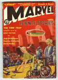 Golden Age (1938-1955):Science Fiction, Marvel Science Stories #2 (Red Circle, 1938) Condition: VG+. Hard to find pulp from publisher that would become Marvel. Nake...