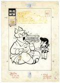 Original Comic Art:Covers, Warren Kremer - Little Lotta Cover Original Art (Harvey, 1957).Little Lotta's idea of a hors d'oeuvre snack is a lot di...