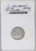 Bust Dimes: , 1821 10C Large Date--Cleaned--ANACS. VF20 Details. JR-5. NGCCensus: (12/195). PCGS Population (3/155). Mintage: 1,186,512....