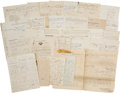 Autographs:Military Figures, 34th Illinois: Group of Civil War Military Documents andLetters....