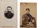 Military & Patriotic:Civil War, Two Civil War Cartes de Visite of Union Soldiers, One Identified as KIA.... (Total: 2 )