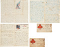 Autographs:Military Figures, Union Private John A. Dickie: Binder of Eighteen Letters,...