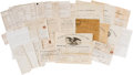 Miscellaneous:Ephemera, Assortment of Civil War-Era Forms....