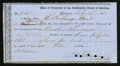 Confederate Notes:Group Lots, Interim Depository Receipt Richmond, (VA)- $12,000 July 1, 1863Tremmell VA-164.. ...