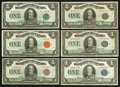 Canadian Currency: , $1 1923 Eight Different Charlton Numbers Fine or Better.. ...(Total: 8 notes)