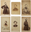 Military & Patriotic:Civil War, Six Cartes de Visite of Identified Officers From Illinois Regiments, Two Signed and One Killed In Action....