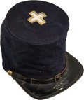 Military & Patriotic:Civil War, Commercially Produced Forage Cap with Large 6th Corps Badge Identified to George A. Sweet Co B 5th Vermont Infantry...