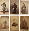 Military & Patriotic:Civil War, Six Cartes de Visite of Identified Officers and From Illinois Regiments, Including Three Killed in Action....