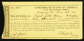 Confederate Notes:Group Lots, Interim Depository Receipt Montgomery, AL- $400 Dec. 23, 1864Tremmell AL-119.. ...
