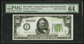Small Size:Federal Reserve Notes, Fr. 2101-I $50 1928A Light Green Seal Federal Reserve Note. PMG Choice Uncirculated 64 EPQ.. ...
