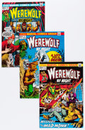 Bronze Age (1970-1979):Horror, Werewolf by Night Group (Marvel, 1973-74) Condition: Average VF....(Total: 10 Comic Books)