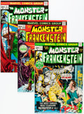 Bronze Age (1970-1979):Horror, Frankenstein Group (Marvel, 1973-74) Condition: Average VF....(Total: 9 Comic Books)