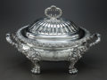 Other, AN ENGLISH SILVER-PLATED COVERED SERVING DISH, circa 1900. 11 x 16x 10-1/4 inches (27.9 x 40.6 x 26.0 cm). From a Private...