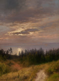 Paintings, HERMANN OTTOMAR HERZOG (American, 1832-1932). View to the Sea. Oil on canvas. 23 x 17-1/4 inches (58.4 x 43.8 cm). Signe...