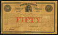 Confederate Notes:Group Lots, Ball 11 Cr. 1A $50 Bond 1861 Very Fine.. ...