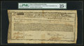 Colonial Notes:Massachusetts, Massachusetts Commodity Bond £476 January 1, 1780 Anderson MA-22PMG Very Fine 25 Net.. ...
