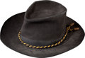 Military & Patriotic:Civil War, Exceptionally Tall Union Veteran's G.A.R. Slouch Hat...