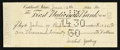 Miscellaneous:Other, Caldwell, Idaho- The First National Bank Counter Check $1,025 June12, 1930. ...