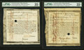 Colonial Notes:Massachusetts , Commonwealth of Massachusetts Treasury Certificate at 6% Interest.Various Denominations. Jan. 1, 1782 Anderson MA-31. Two Exa...(Total: 2 notes)