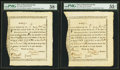 Colonial Notes:Massachusetts , State of Massachusetts-Bay £10 Treasury Certificates Comm'tte Warat 6% Interest 1777. Anderson MA-4 (2), MA-6. ... (Total: 3 notes)