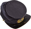 Military & Patriotic:Civil War, Fine Officers Grade Forage Cap with Original Embroidered Insignia...