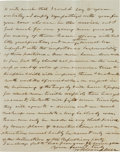 Autographs:Military Figures, Union General William B. Campbell Autograph Letter Signed....