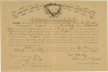 Autographs:Military Figures, Union Colonel Frederick Winthrop Military Promotion Signed....